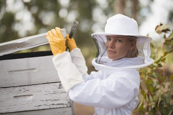 Nadia Vorster beekeeper and owner of Honeysuckle