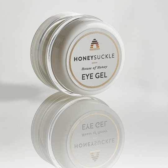 Honeysuckle natural cosmetics eye gel available online