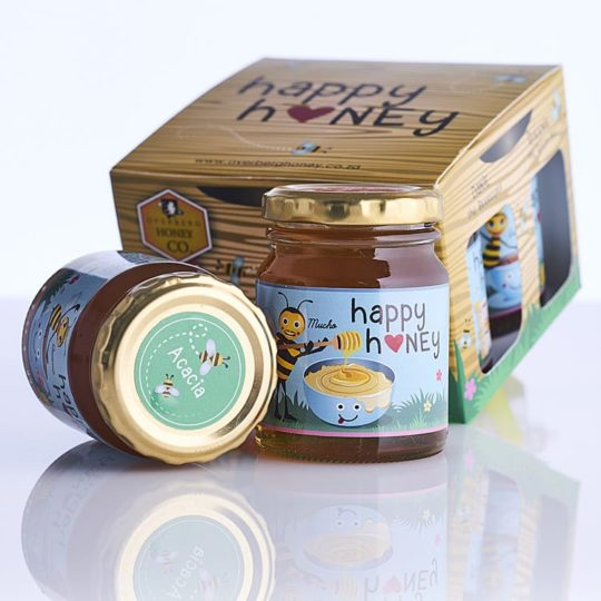 Raw honey gift pack available online from Honeysuckle