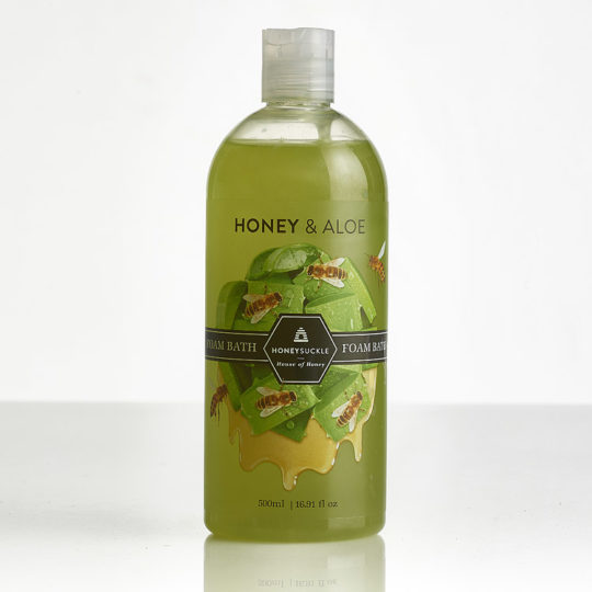 Honeysuckle natural cosmetics Honey Aloe Foam Bath