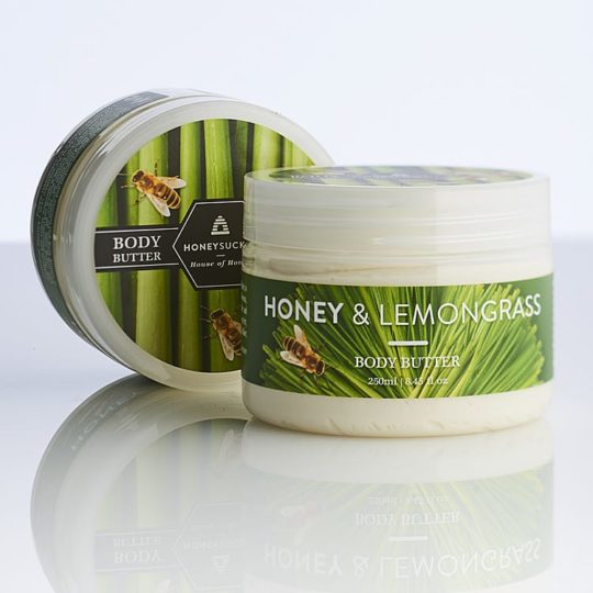 Honeysuckle natural cosmetics honey lemongrass body butter