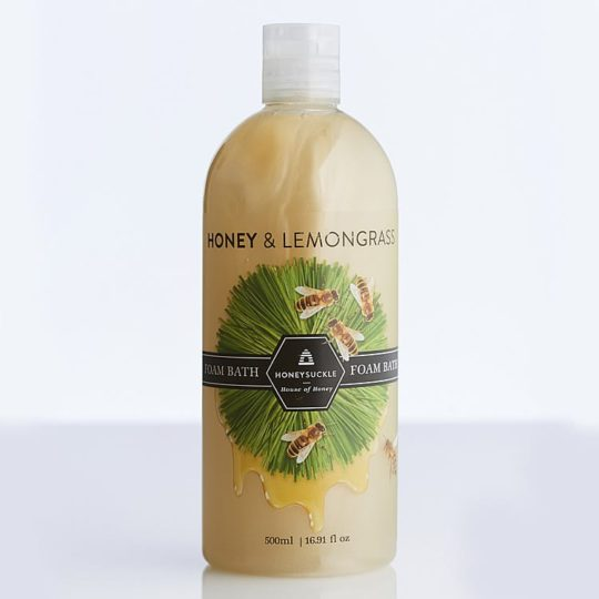 Honeysuckle natural cosmetics Honey & Lemongrass Foam Bath