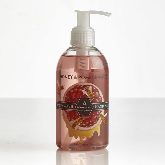 Honeysuckle natural cosmetics Honey & Pomegranate Hand Wash available online