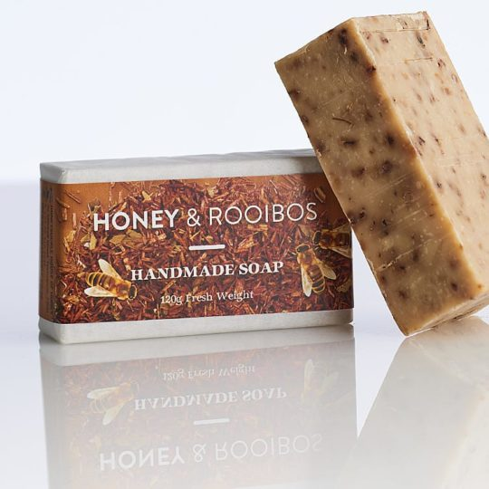 Honey & Rooibos soap available online from Honeysuckle