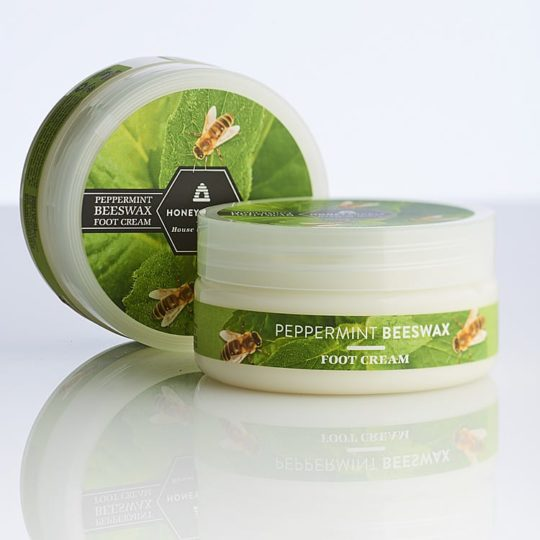 Honeysuckle natural cosmetics Peppermint Beeswax Foot Cream