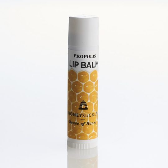 Propolis lip ice available online from Honeysuckle