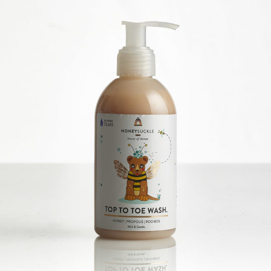 Honeysuckle baby top to toe wash available online